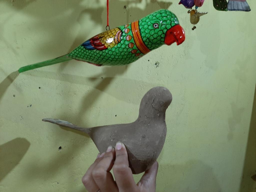 Paper mache toys at Raghurajpur heritage village in Odisha