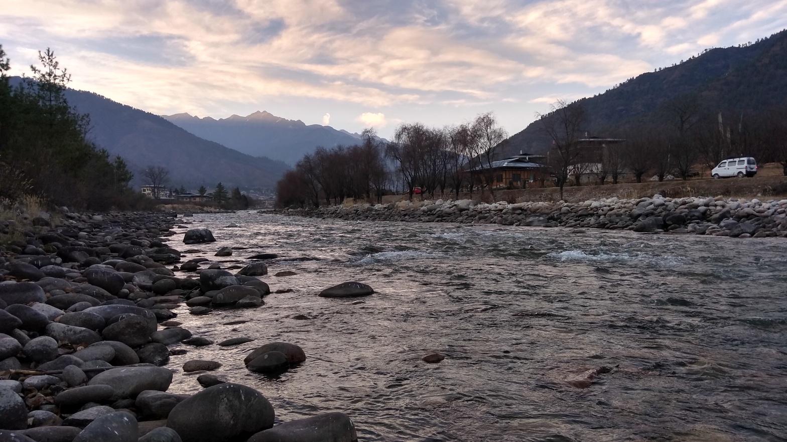 Paro river Bhutan