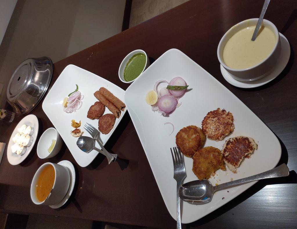 Kebabs at Taj Lucknow