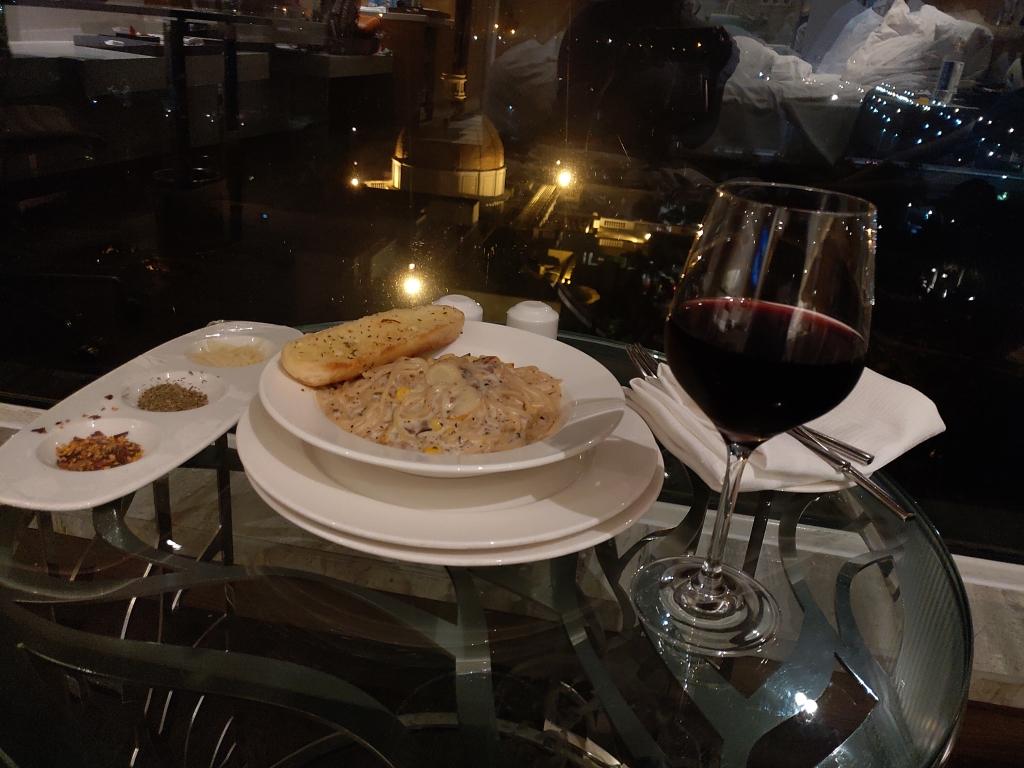 Amazing pasta at Renaissance Lucknow